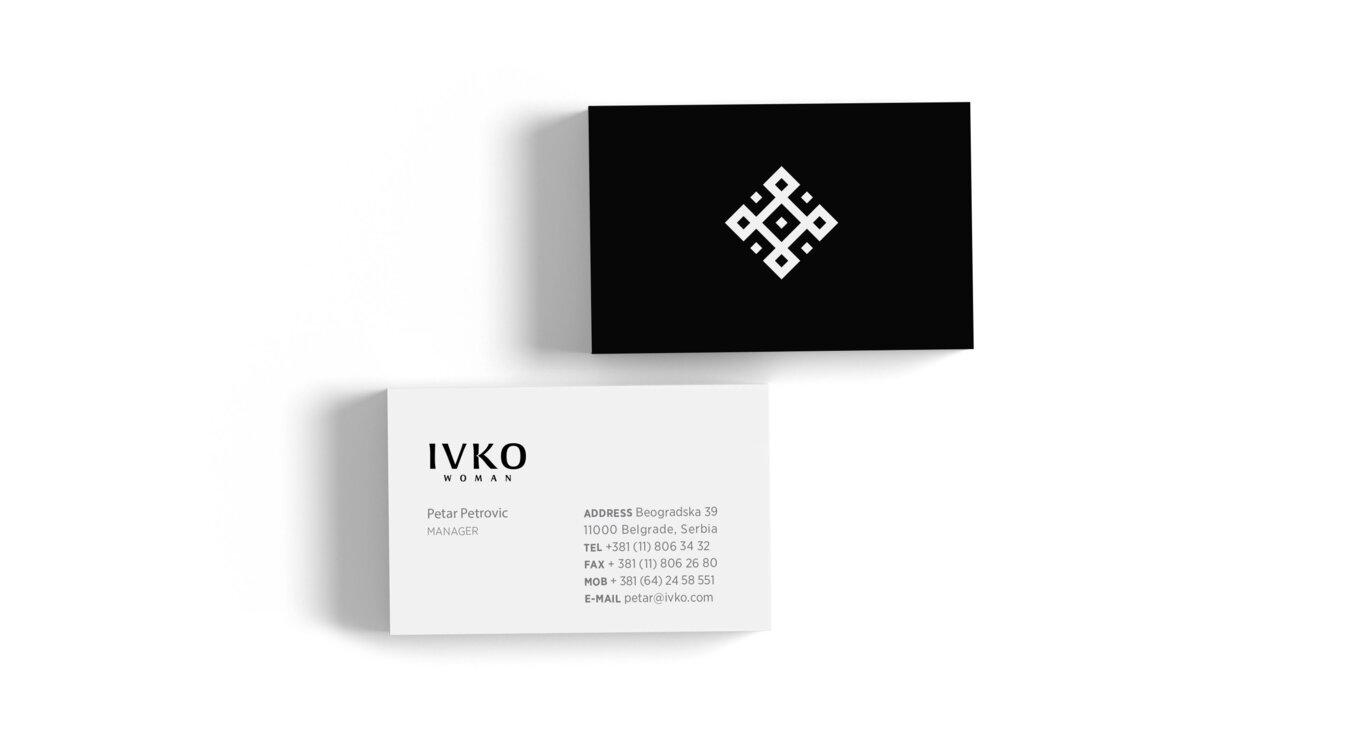 branding, visual identity, logo, logotype, printed material, business card, Ivko